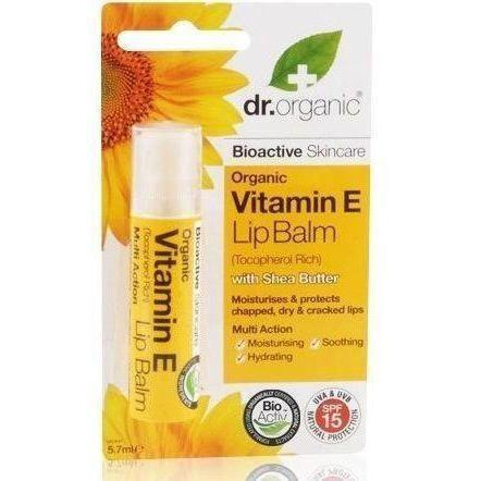 Vitamin E Lip Balm 5.7Ml-Face Care-Dr Organic-BEAUTY ON WHEELS-UAE-Dubai-Abudhabi-KSA-الامارات