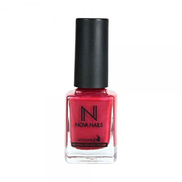 Nova Nails Water Based Nail Polish Crimson Red # 80-Makeup-Nova Nails-BEAUTY ON WHEELS-UAE-Dubai-Abudhabi-KSA-الامارات