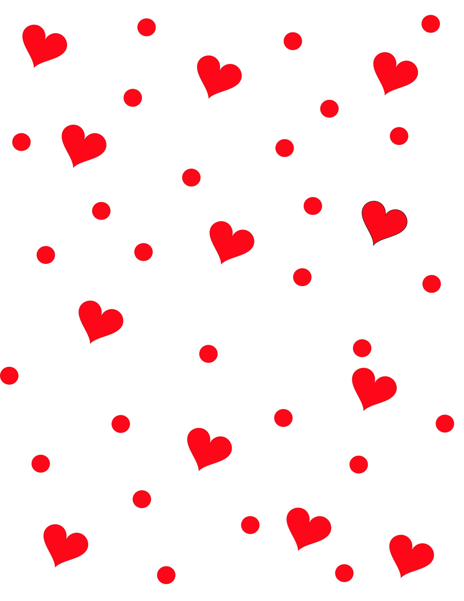 Color of Polka Hearts - Pera