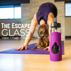 The Escape | Glass Water Bottle