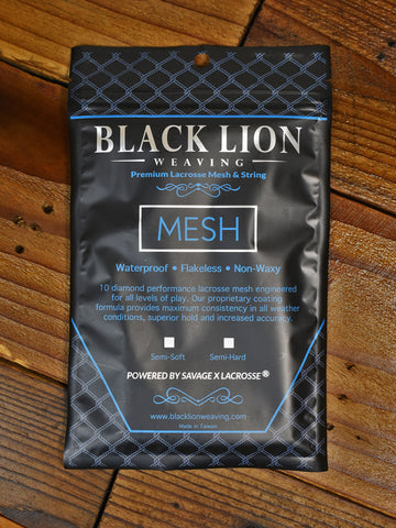 Package of lacrosse mesh.
