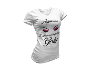 Aquarius- I Am Unapologetically Girly - Tee Size Me