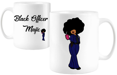 Black Officer Majic - Tee Size Me