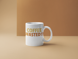Mugs-Coffee Wasted - Tee Size Me