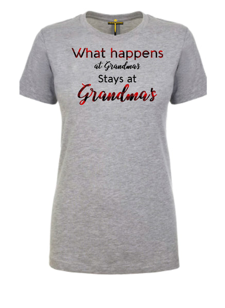What Happens At Grandma's Stays At Grandma's - Tee Size Me