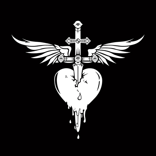 Heart & Dagger Sticker