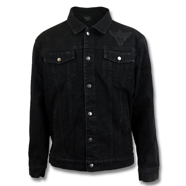 Black Denim Mens Jacket