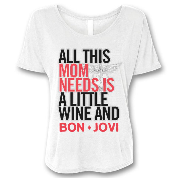 Wine & Bon Jovi Women's T-shirt