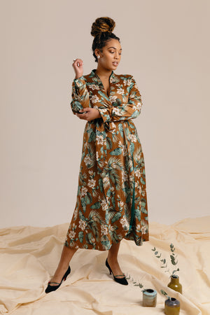 The Reversible Wrap Dress - Forest