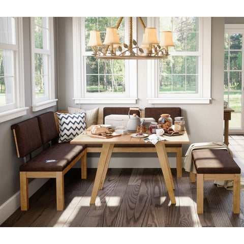 Austin Breakfast Nook Set Almond - Artefama Furniture