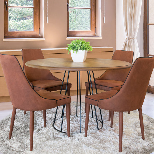 Patricia Chair - Brown, Set of 4
