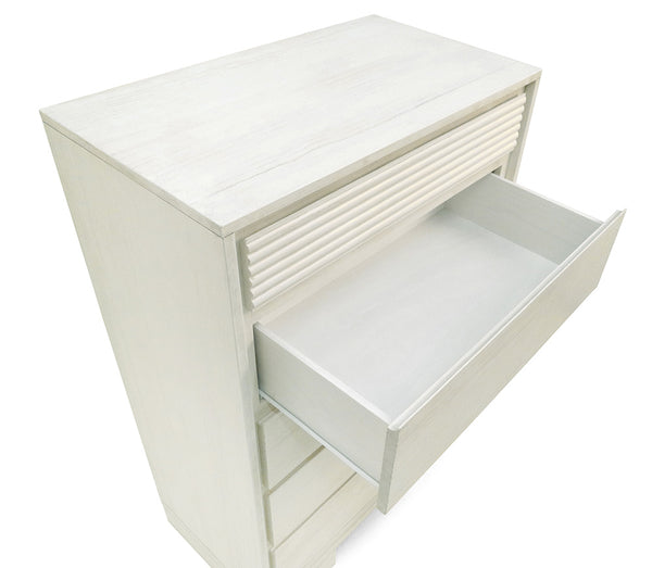 Vienna 5 Drawers Chest Off White