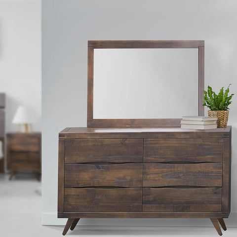 Ravenna 6 Drawers Dresser - Rustic Brown