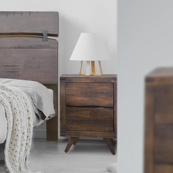 Ravenna Nightstand - Rustic Brown