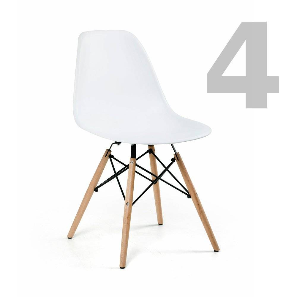 Eiffel Side Chair White, Set of 4