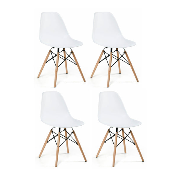 Eiffel Side Chair White, Set of 4 - Artefama Furniture