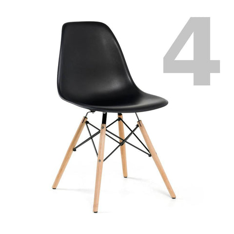 Eiffel Side Chair Black, Set of 4