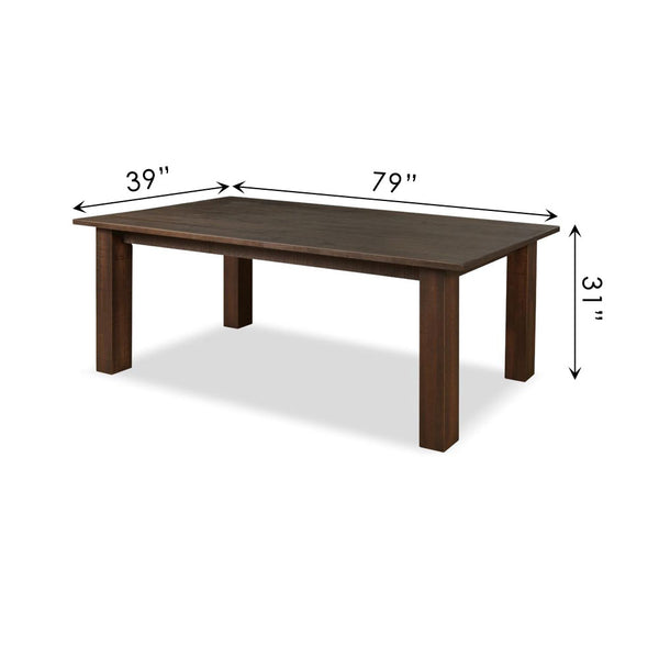 Flora Dining Table with Square Legs
