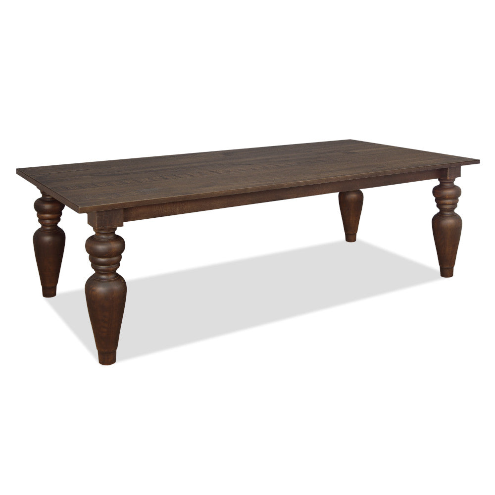 "Flora Dining Table with 7"" Turning Legs - Artefama Furniture"