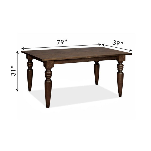 "Flora Dining Table with 4"" Turning Legs"