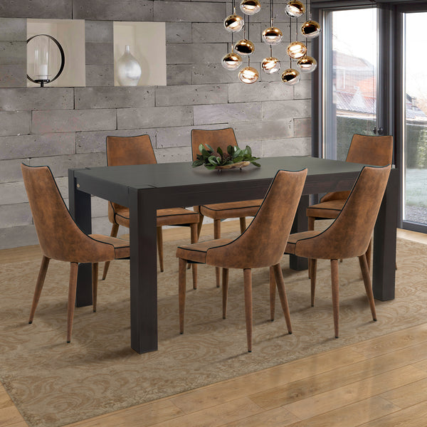 "Kubo 63"" Dining Table Espresso"
