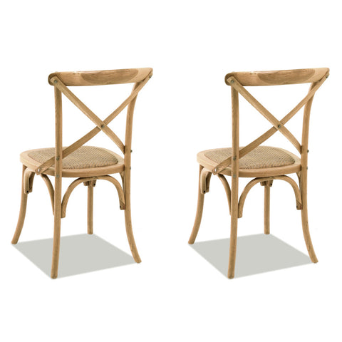 Paris Chairs Oak, Set of 2 - Artefama Furniture
