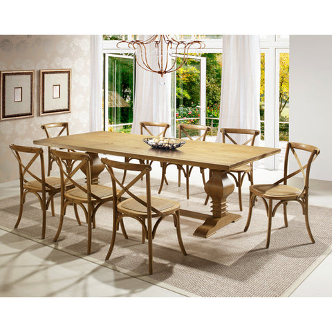 Tower Dining Table Oak - Artefama Furniture