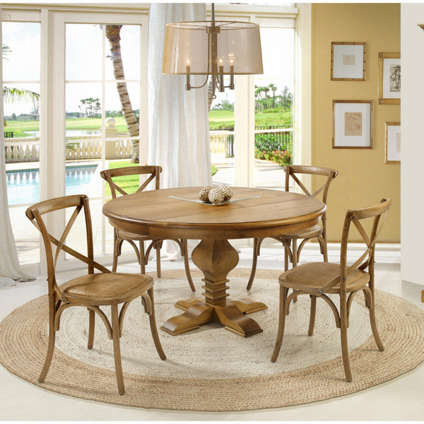 "Tower 47"" Round Dining Table Oak - Artefama Furniture"