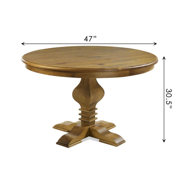 "Tower 47"" Round Dining Table Oak"