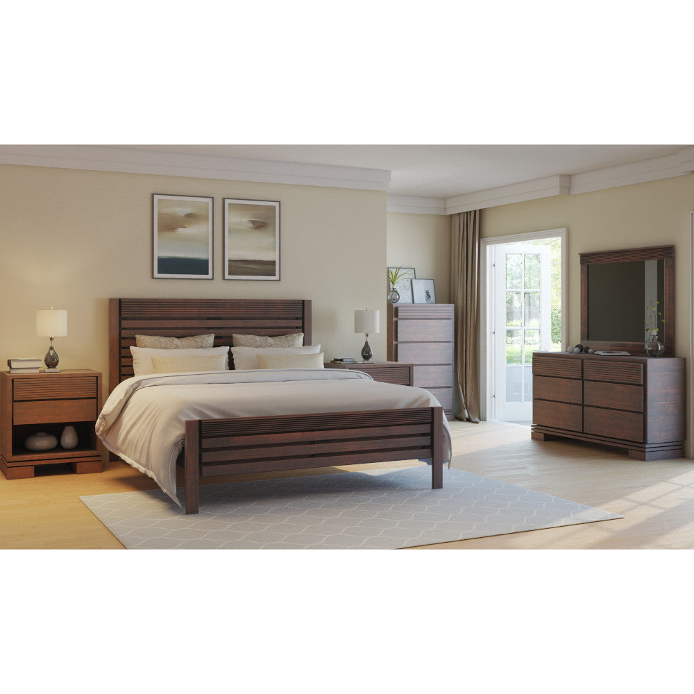 Vienna 4 pieces King Bedroom Set Cinnamon - Artefama Furniture
