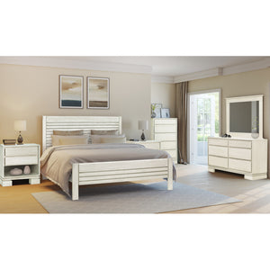 Vienna 4 pieces King Bedroom Set Off White - Artefama Furniture