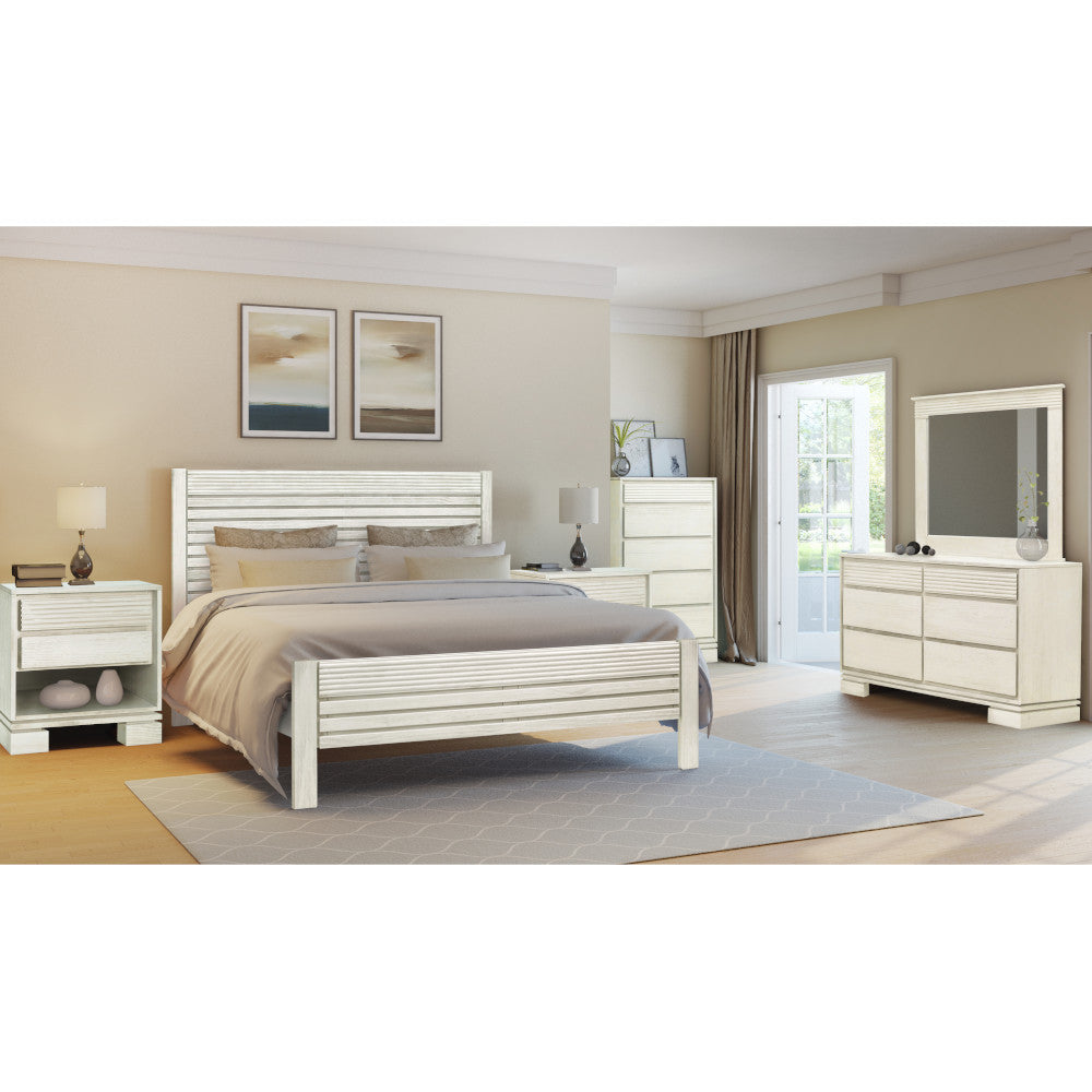 Vienna 4 pieces King Bedroom Set Off White