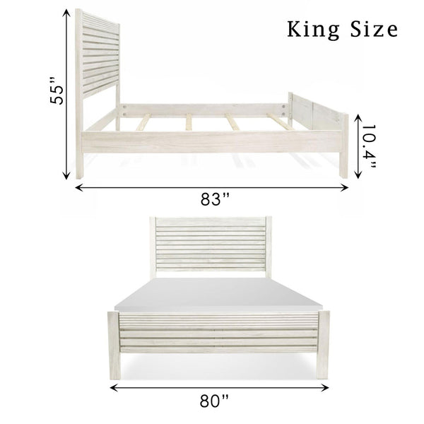 Vienna Bed Off White