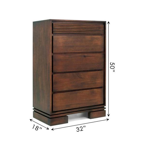 Vienna 5 Drawers Chest Cinnamon