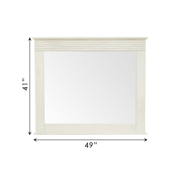 Vienna Mirror Off White