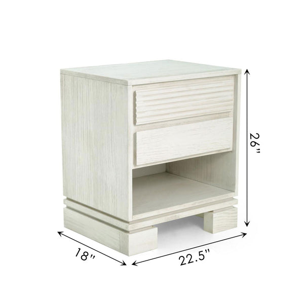 Vienna Night Stand Off White
