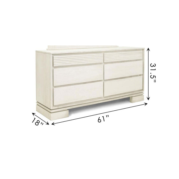 Vienna 6 Drawers Dresser Off White