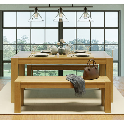 "Kubo 55"" Bench Garapa - Artefama Furniture"