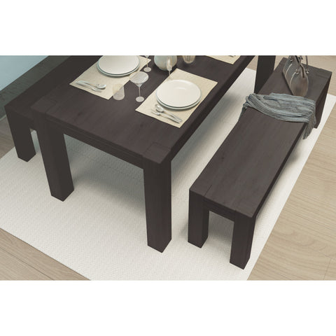 Kubo Dining Set Expresso Color with 2 benches - Artefama Furniture