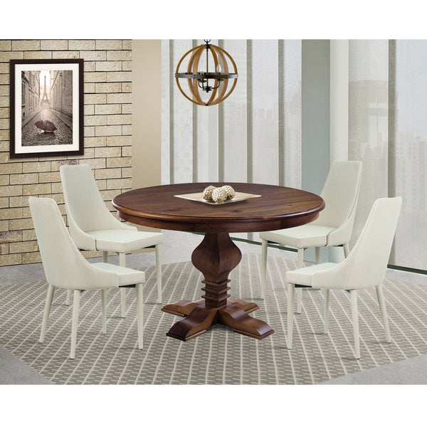 "Tower 47"" Round Dining Table Cinnamon"