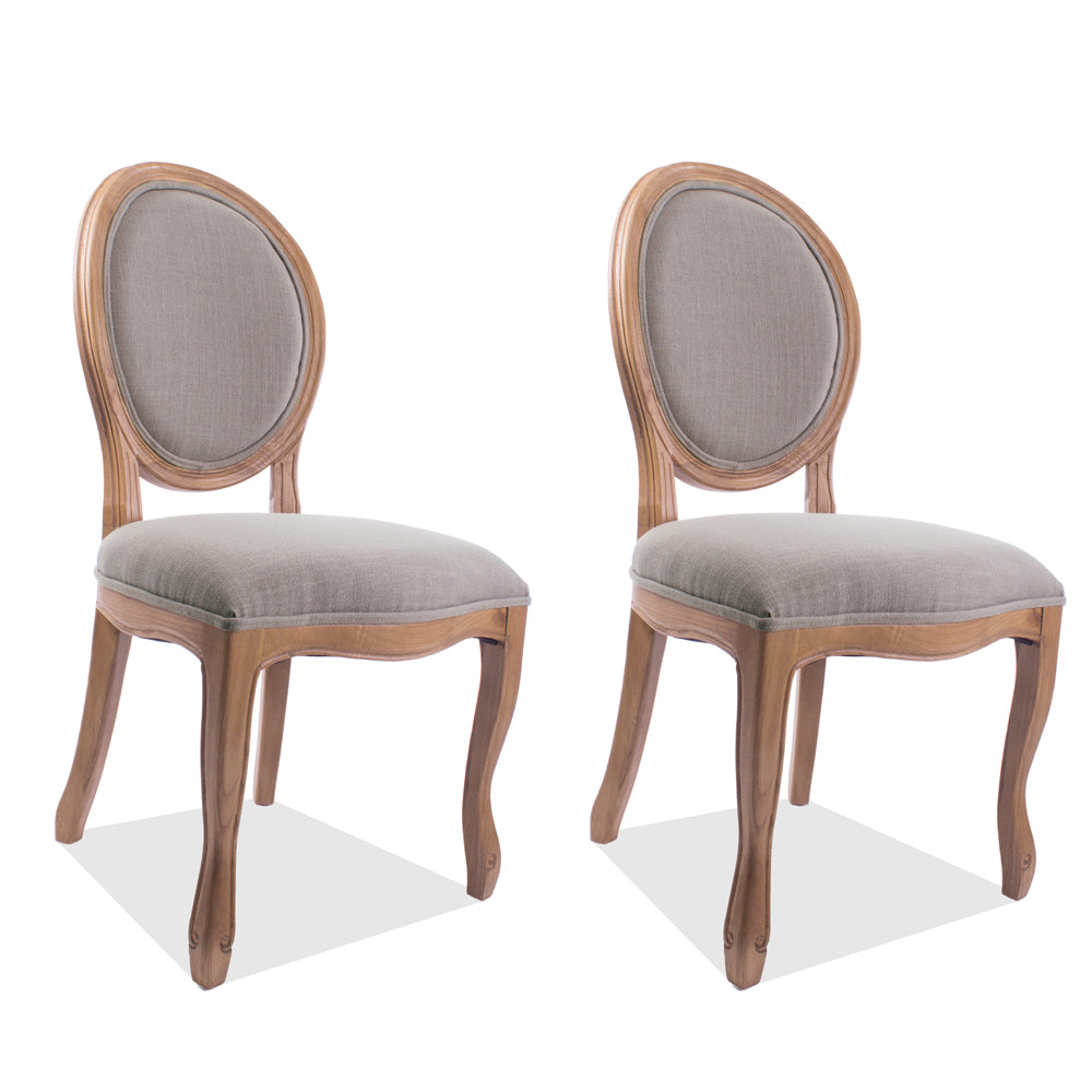 Medallion Side Chair Natural, Set of 2