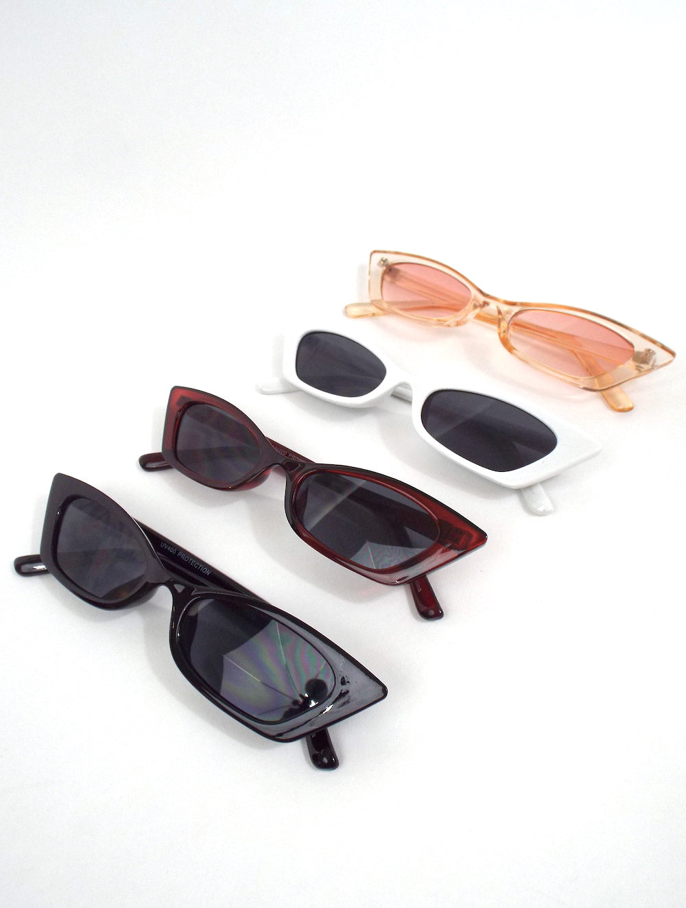 Square Skinny Cat Eye Sunglasses