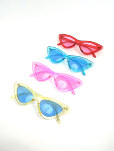 Space Babe Color Skinny Cat Eye Sunglasses