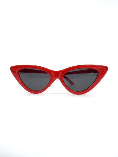 Cruella Skinny Red Cat Eye Sunglasses