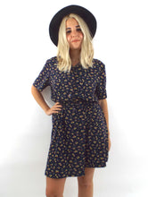 Load image into Gallery viewer, Vintage 90s Buttondown Cinched Waist Shirt Dress