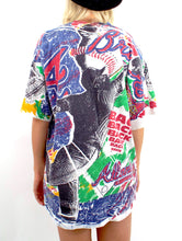 Load image into Gallery viewer, Vintage 90s Atlanta Braves Allover Printed Tee