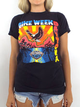 Load image into Gallery viewer, Vintage 80s Daytona Beach Bike Week Neon Eagle Tee