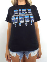 Load image into Gallery viewer, Vintage 80s Daytona Beach Bike Week Chrome Lettering Tee