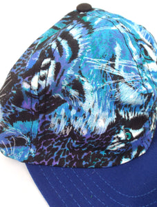 Vintage 90s Blue Animal Print Hat