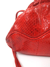 Load image into Gallery viewer, Vintage 80s Red Faux Snakeskin Crossbody Purse